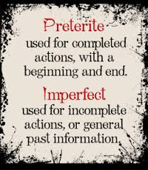 preterite vs imperfect